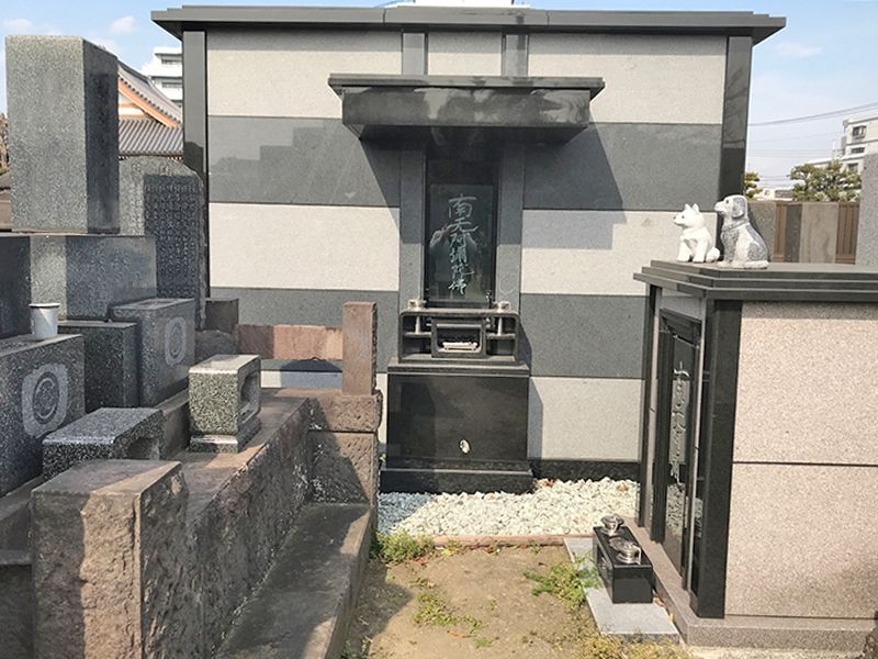 大田萩中霊園 区画整理された墓域