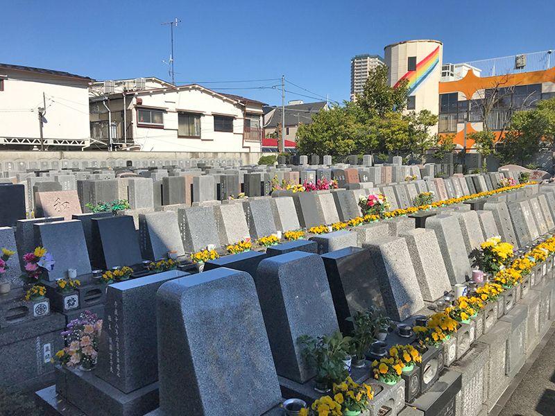江東メモリアル 区画整理された墓所