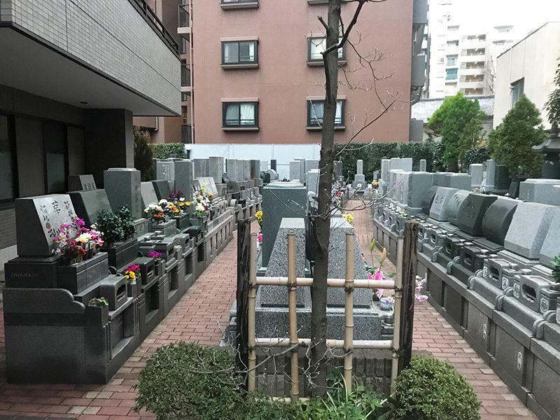 メモリアルガーデン麻布 陽当りが良い墓域