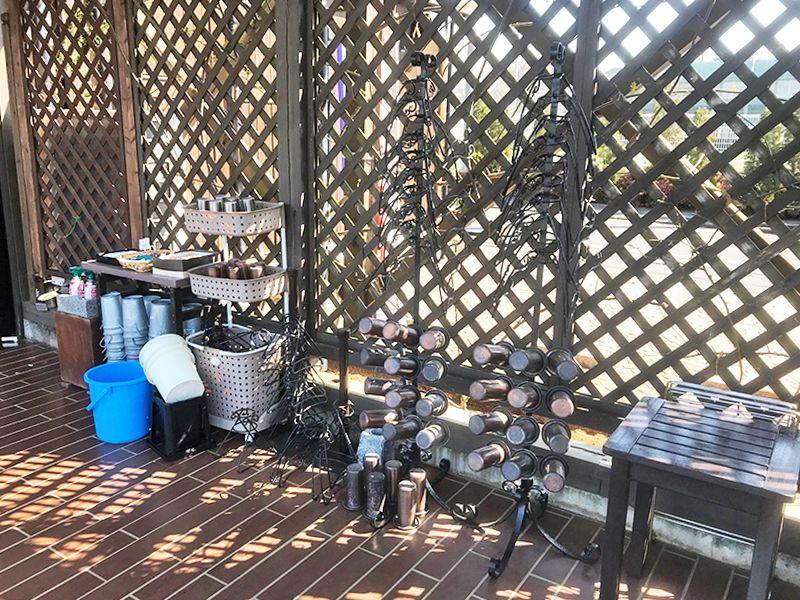 府中・国立メモリアルパーク 道具のそろった水汲み場