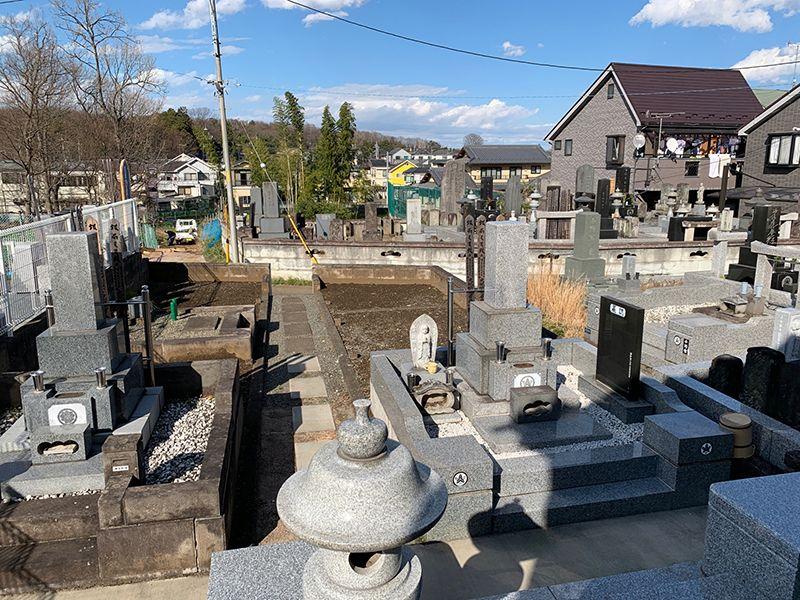ひまわり墓苑 日当たりの良い墓域