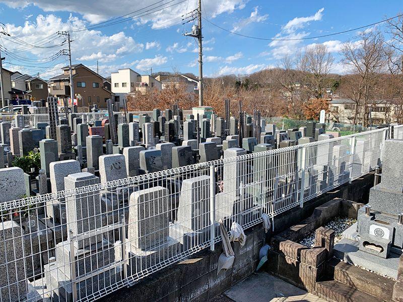 ひまわり墓苑 区画整理された墓域