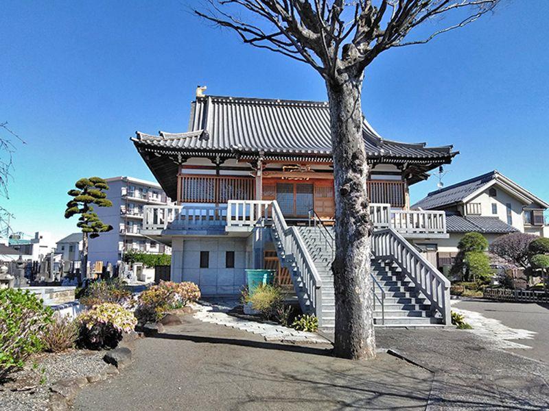 川口樹木葬墓地 本堂への石階段