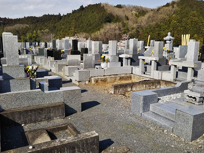 西武セミトリーパーク霊園 手入れがされた御影石が美しい墓石