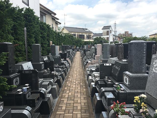 竹の塚霊園 バリアフリーの参道