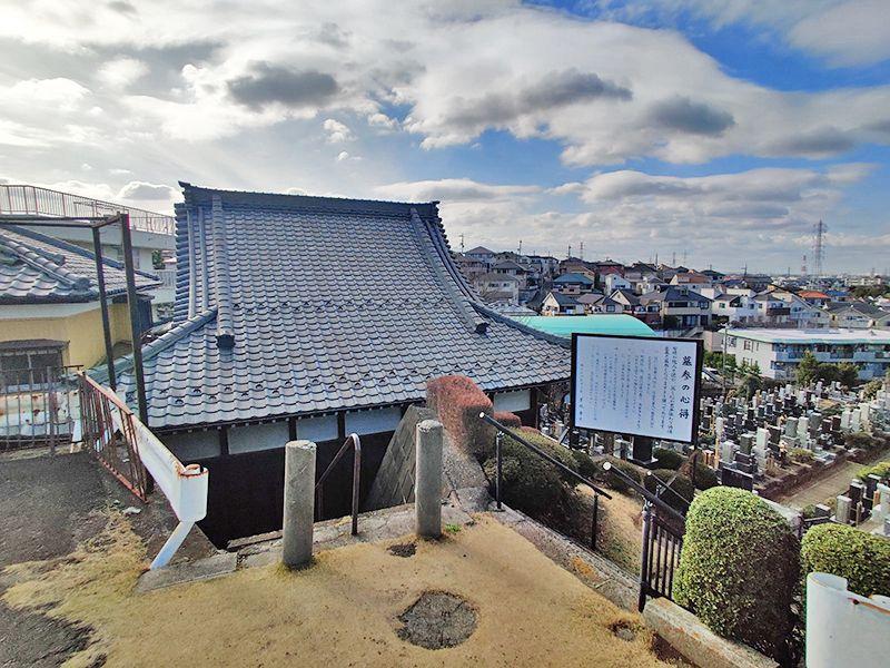 寺尾墓苑 墓域上の高台からの景色