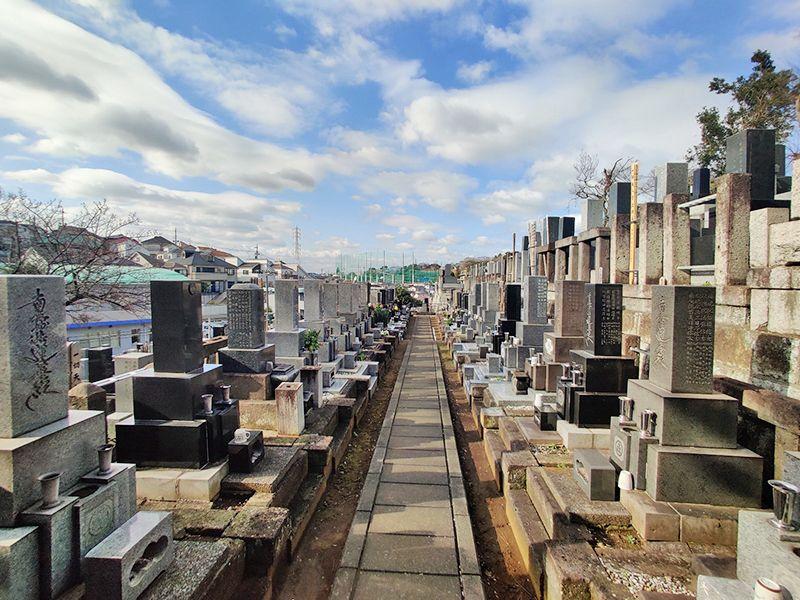 寺尾墓苑 一般墓域風景