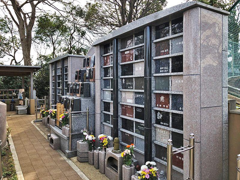 戸塚花観音墓苑 個別に区画された個別納骨室に埋葬するお墓「にじ」
