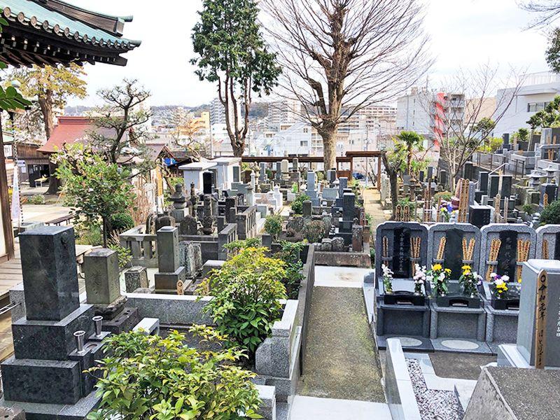 戸塚花観音墓苑 きちんと整備された墓域