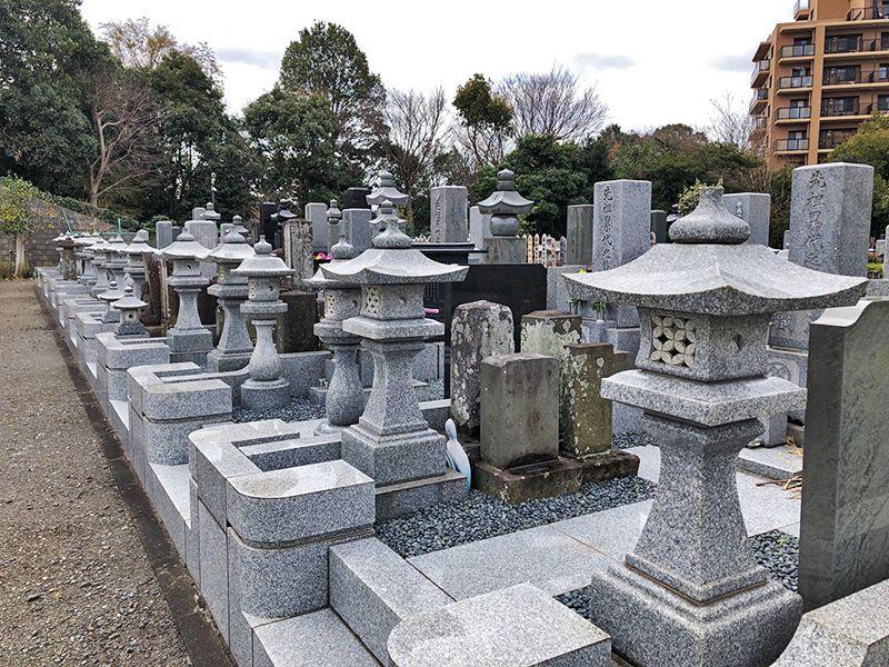 都筑中央霊園 整備された区画