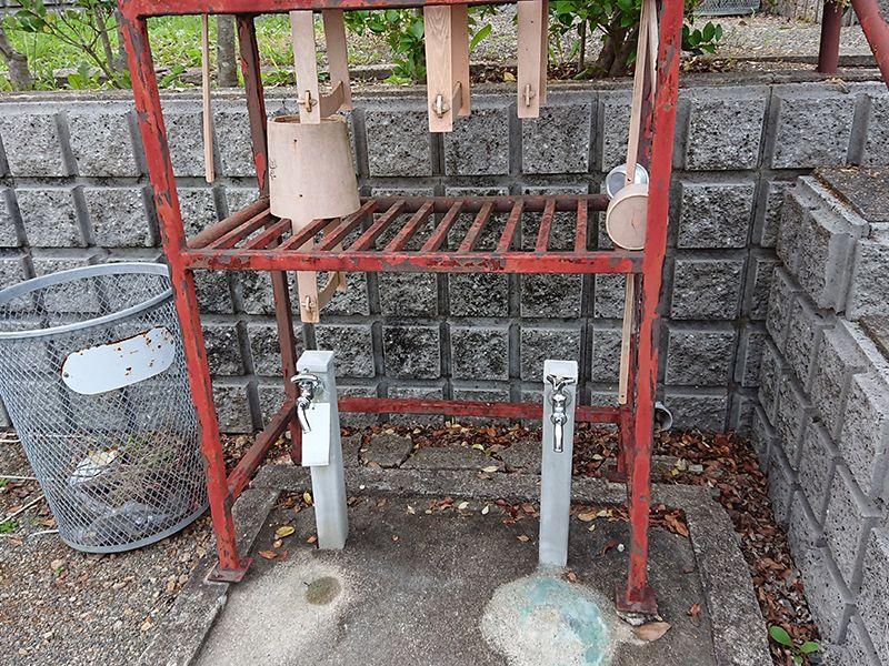 高槻霊園 水汲み場と参拝道具