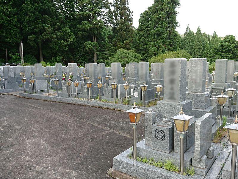 高槻霊園 美しく並んだ墓石