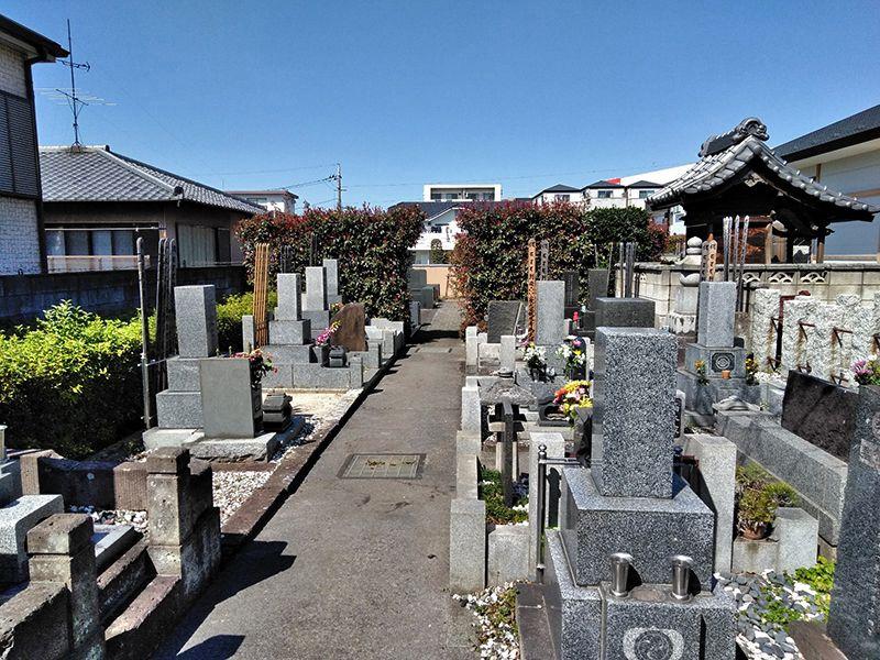 二度栗山墓苑 整備された区画