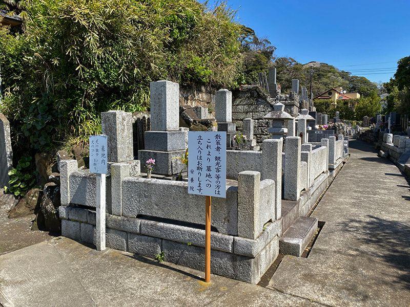 安養院 自然に囲まれた墓地