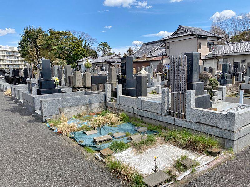 鵠沼共同墓地 整備された区画