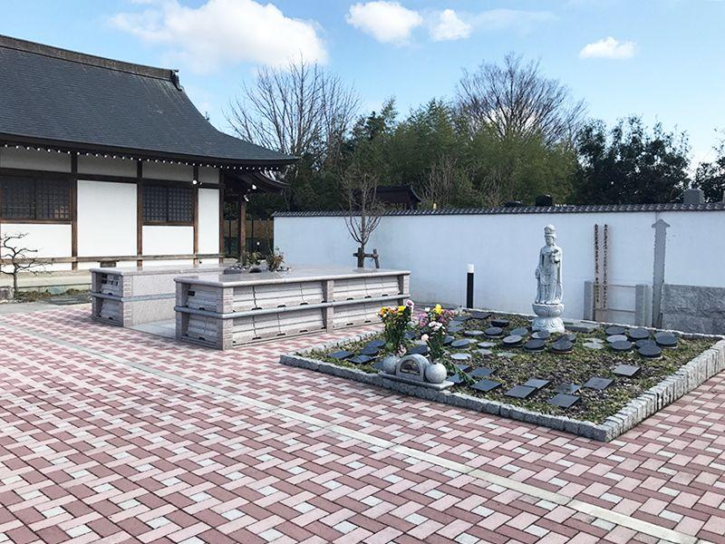 蓮田樹木葬墓地 石畳の参道