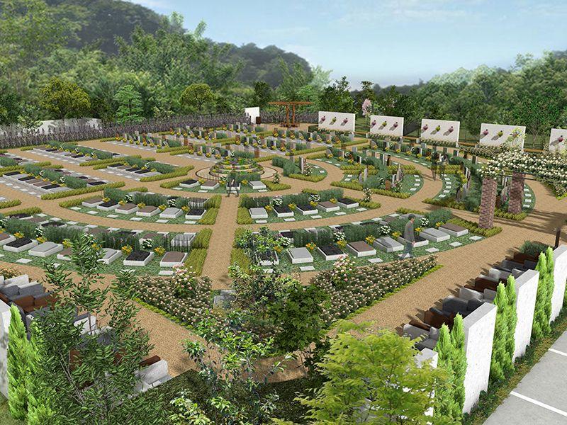 東京霊園 グリーンガーデン 区画整備された墓域