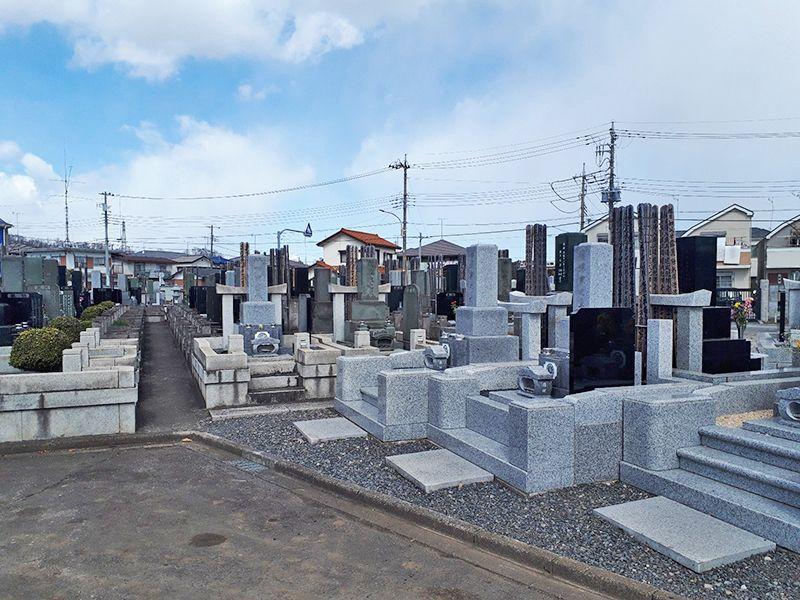 日野市営墓地 区画整理された墓域