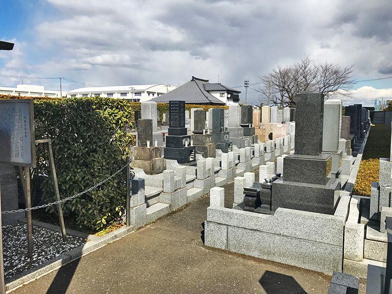 法光寺墓苑 きれいに管理された墓域