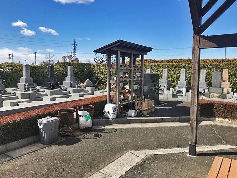 法光寺墓苑 水汲み場