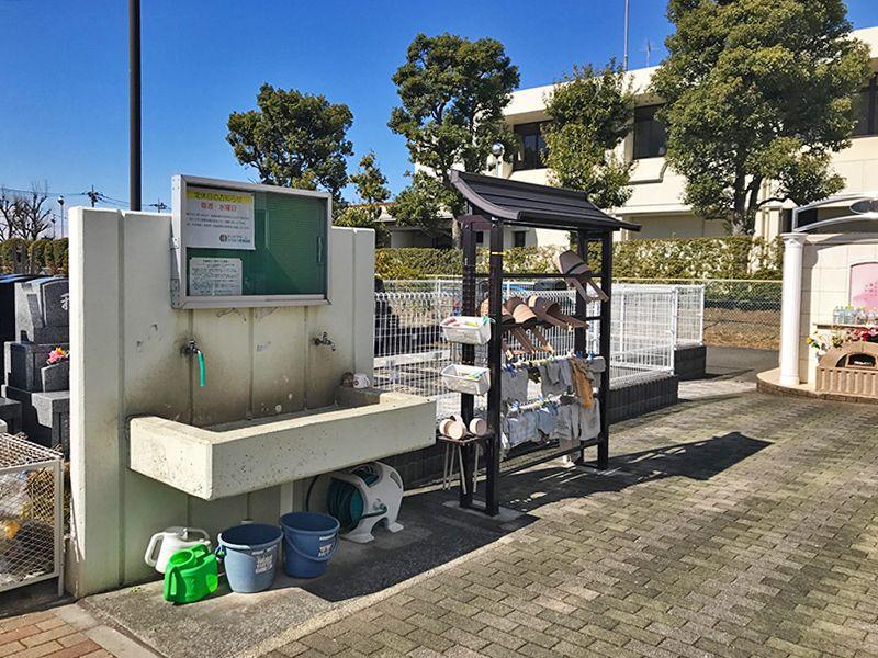 セントグリーン かすかべ聖地霊園 道具の完備された水汲み場