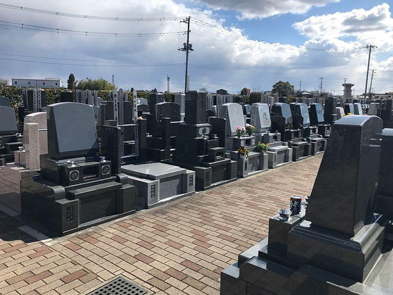 セントグリーン かすかべ聖地霊園 区画整備された墓域