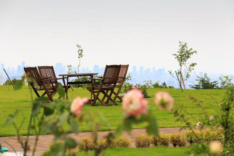 ふれあいの杜 天空 眺望の良い休憩スペース