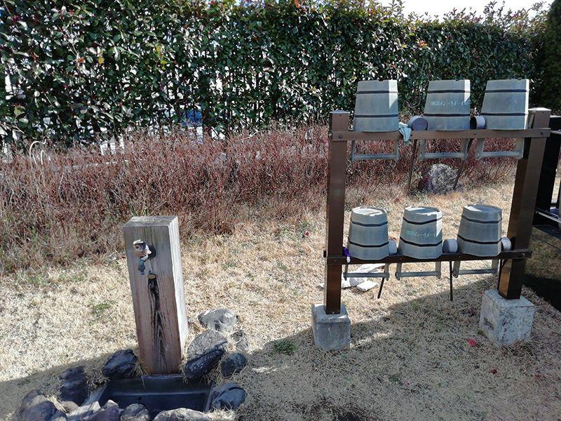 セメタリーパーク霊園 水汲み場と参拝道具