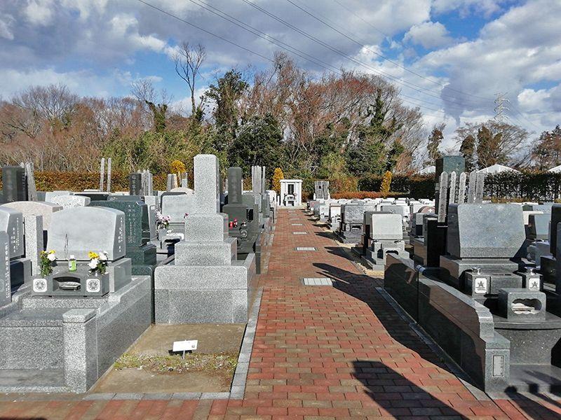 セメタリーパーク霊園 一般墓所の風景