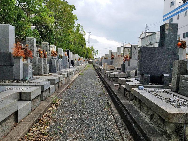 摂津市営 一津屋西墓地 整備された墓域
