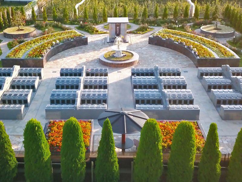 サニープレイス松戸 樹木葬・永代供養墓 連棟式永代供養墓 四季庭「風の区」