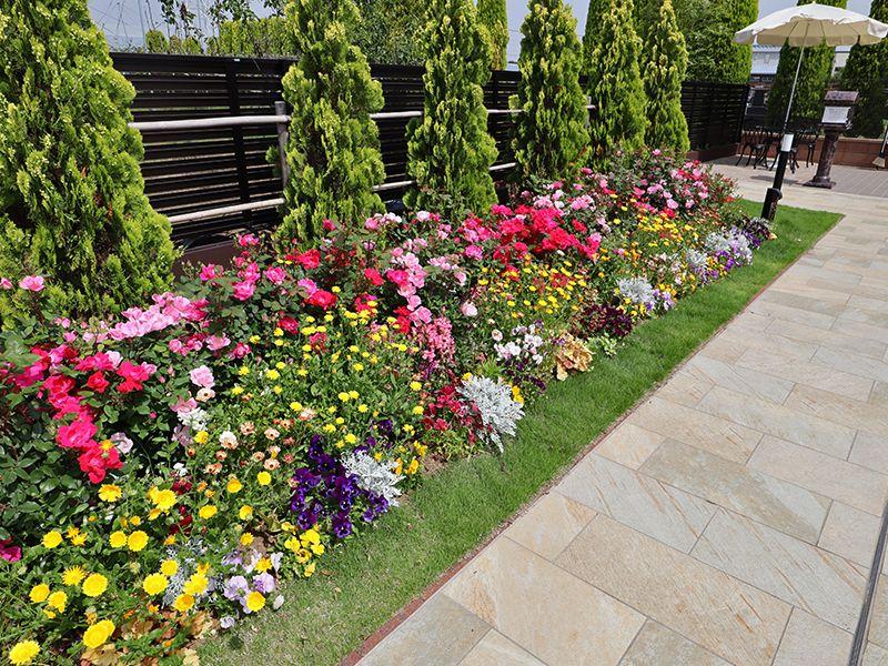 サニープレイス松戸 樹木葬・永代供養墓 鮮やかな花壇