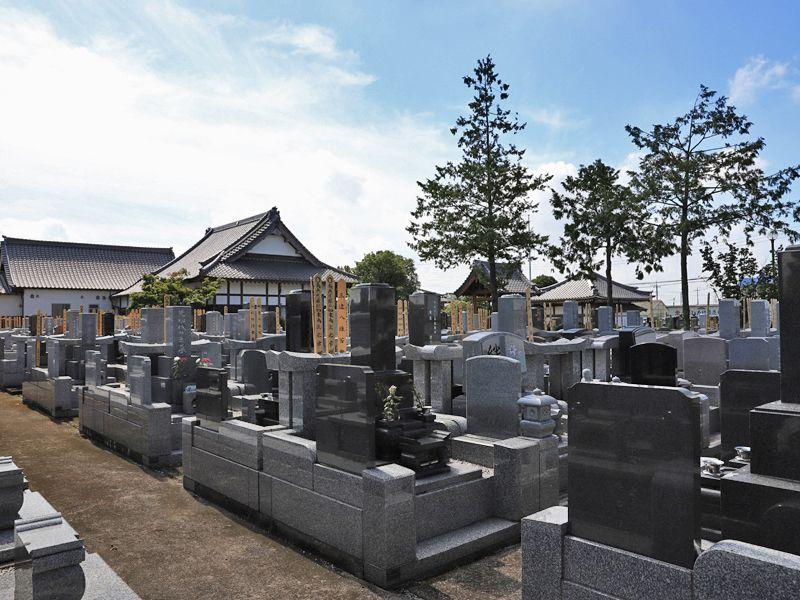 善勝寺 区画整備された墓域