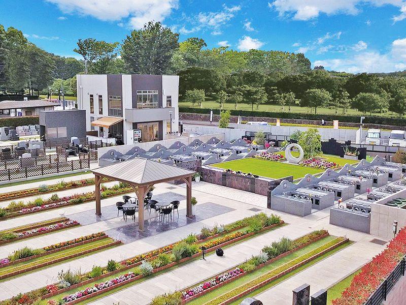 サニープレイス所沢 永代供養墓・樹木葬 花に囲まれた園内