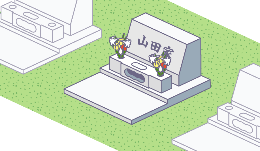 洋型墓石で費用を最小限に抑えた例