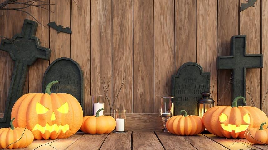 ハロウィーンのかぼちゃの置物