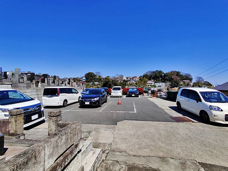 磯子の丘・海の見える樹木葬 駐車スペース