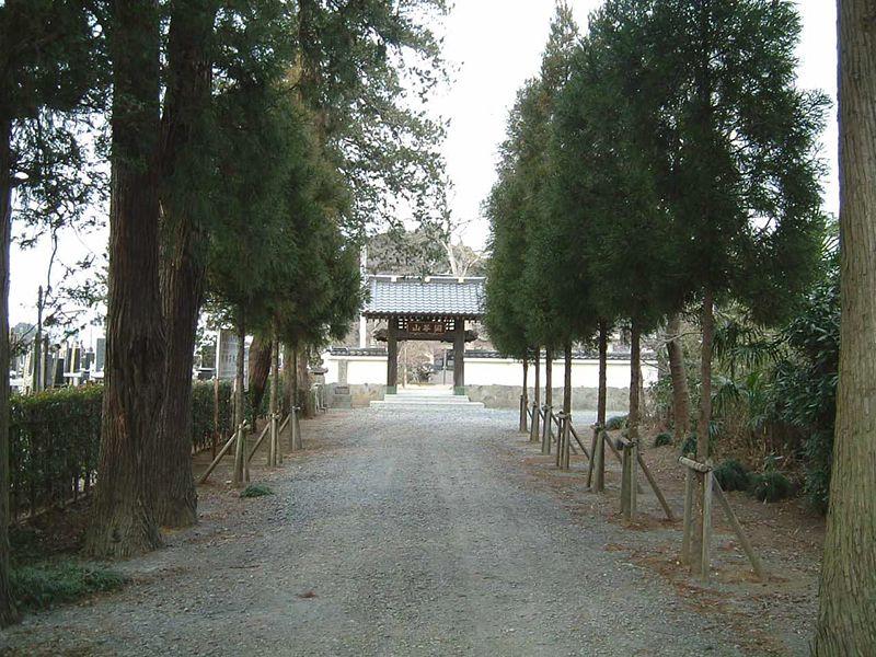保福寺 山門までの道