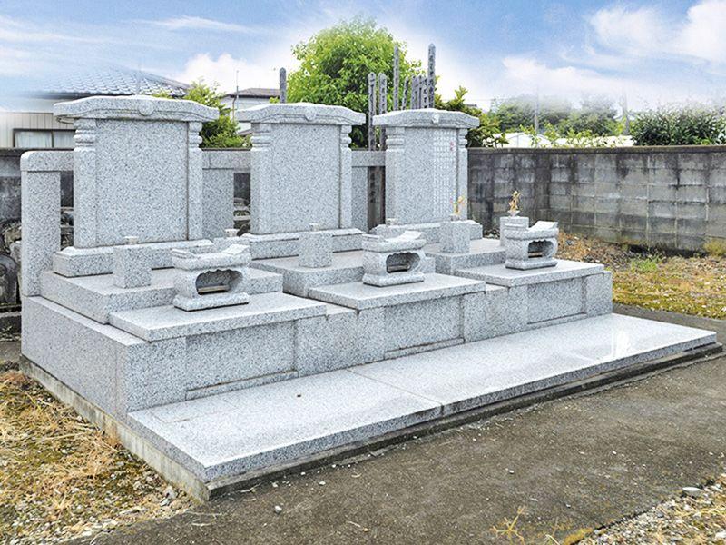 熊谷大樹の里霊園 手入れされた墓石