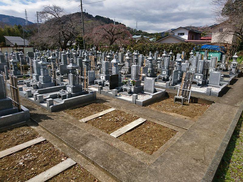 東光院 様々な墓石が建つ一般墓所