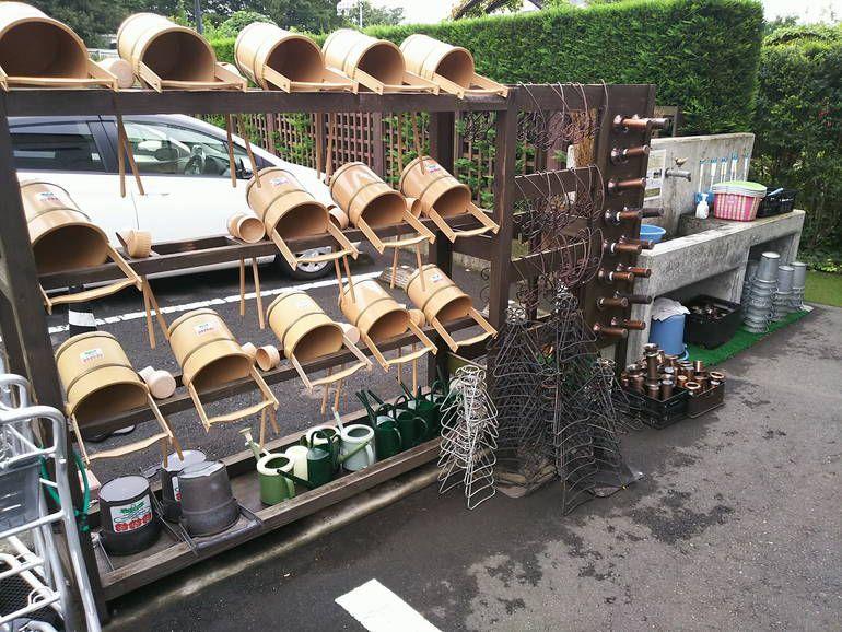 秋津ふれあいパークの水場・桶置き場