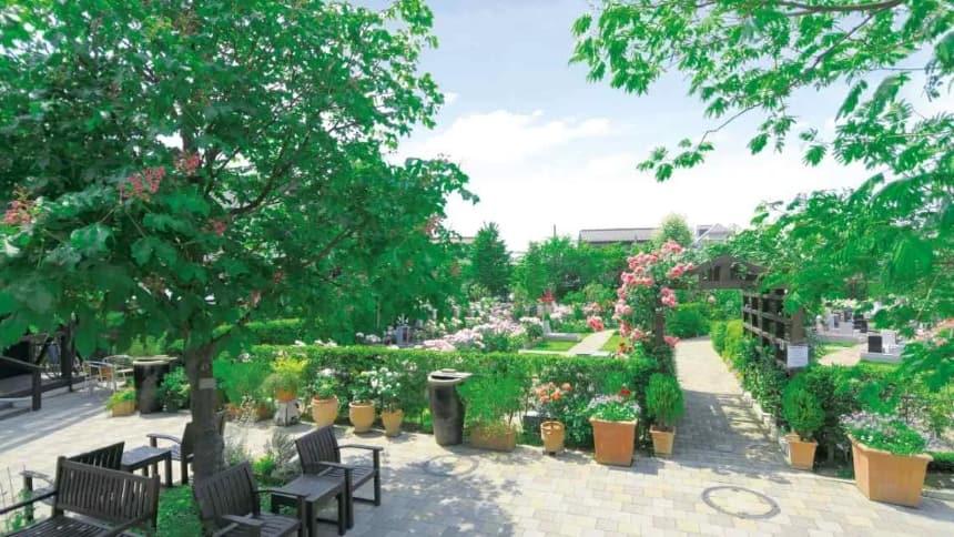 練馬ねむの木ガーデンの霊園の様子