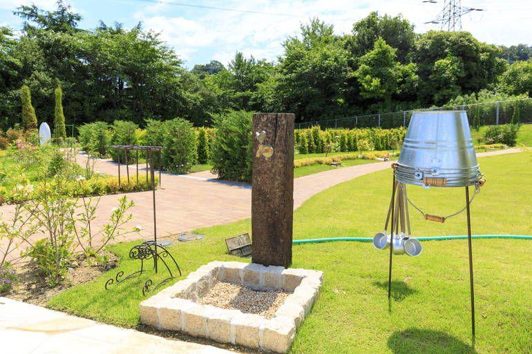 ふれあいの杜 天空 水汲み場と参拝道具