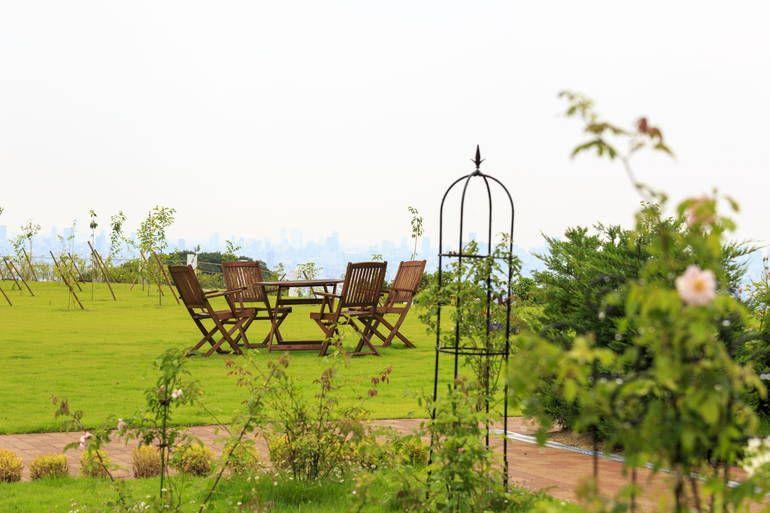 ふれあいの杜 天空 草原と休憩スペース