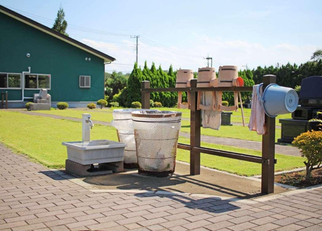 所沢シティメモリアル 道具完備の水汲み場