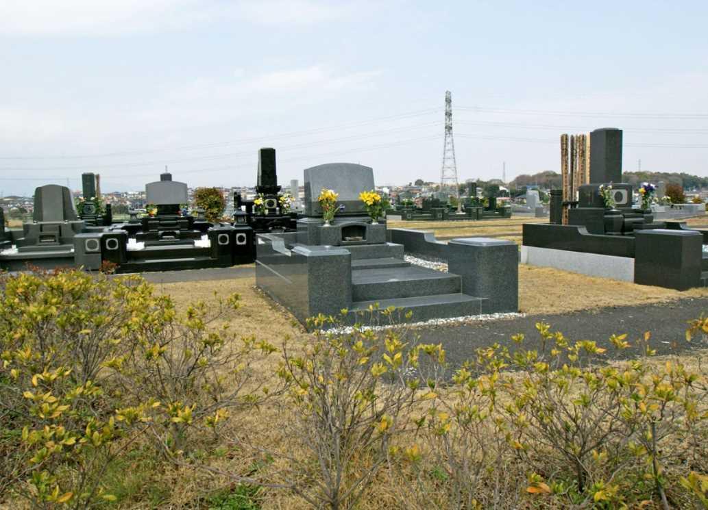 湘南公園墓地茅ヶ崎霊園 日当たりの良い平坦な墓域