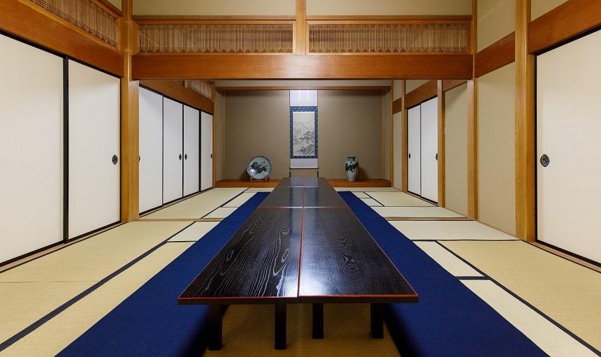 本長寺の会食スペース