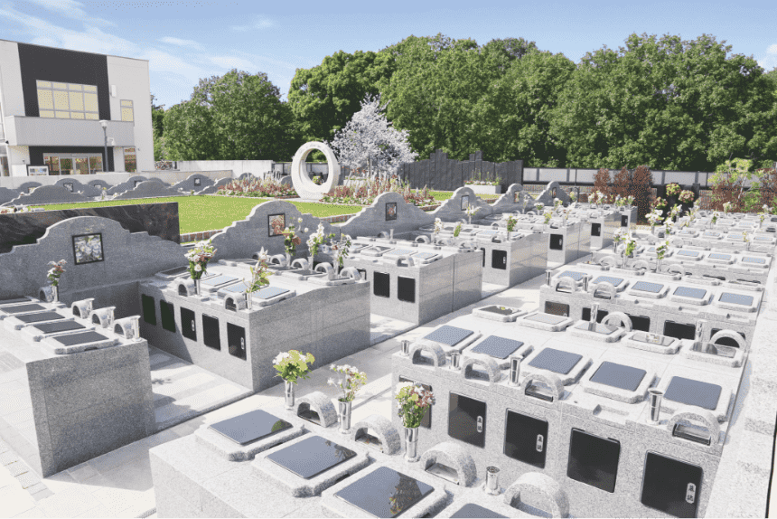 サニープレイス所沢の連棟式永代供養墓『やすらぎの碑』