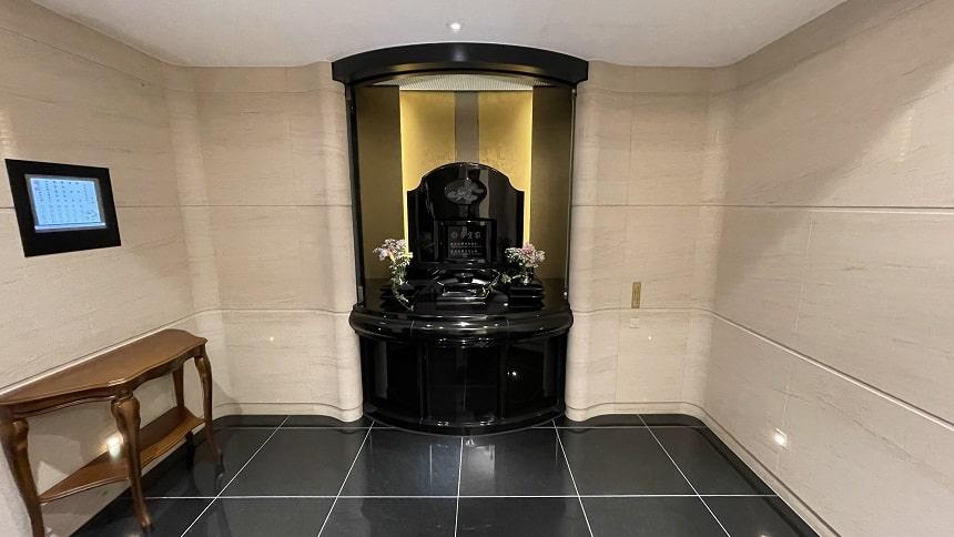 大須陵苑の個別参拝スペース