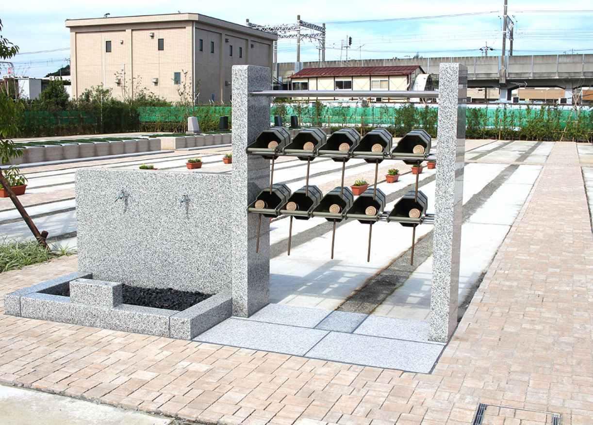 櫻乃里ふなばし聖地 水汲み場と参拝道具